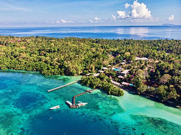 Bunaken Oasis Dive Resort Aerial view © Great White Sean