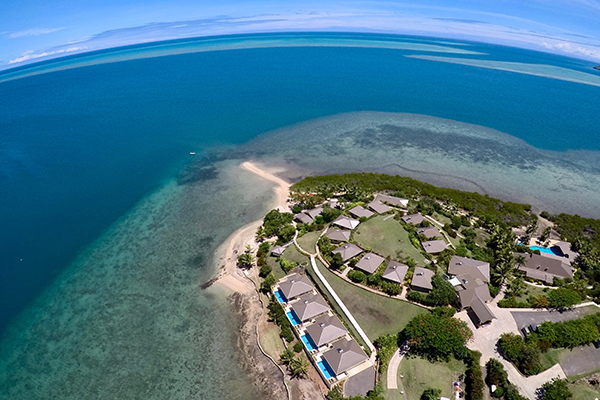 Aerial view of Volivoli Beach Resort in Fiji, member of Best Boutique Collection