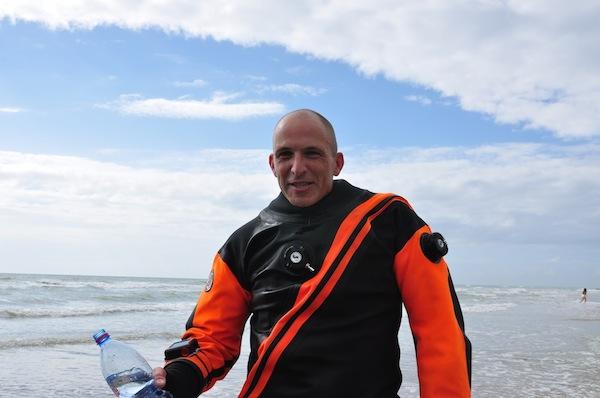 Achim Schloeffel: World record in diving