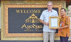 Ayodya Resort Bali TUV certified